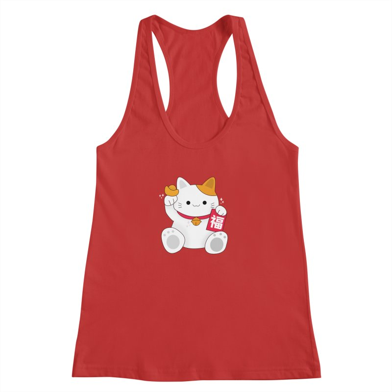 Happy Chinese New Year - Fortune Cat Women's Racerback Tank by theladyernestember's Artist Shop