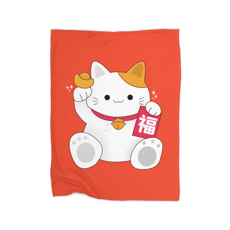 Happy Chinese New Year - Fortune Cat Home Blanket by theladyernestember's Artist Shop