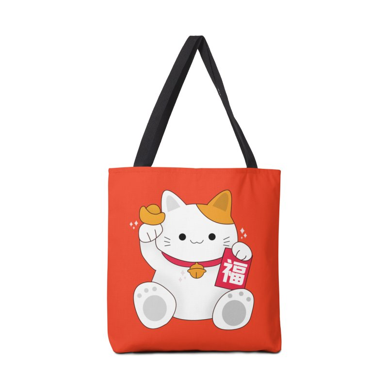Happy Chinese New Year - Fortune Cat Accessories Bag by theladyernestember's Artist Shop