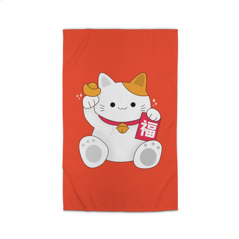 Happy Chinese New Year - Fortune Cat Home Rug by theladyernestember's Artist Shop