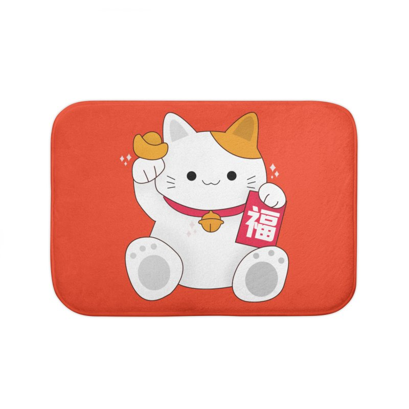Happy Chinese New Year - Fortune Cat Home Bath Mat by theladyernestember's Artist Shop