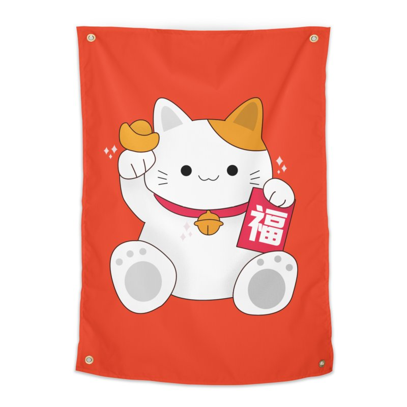 Happy Chinese New Year - Fortune Cat Home Tapestry by theladyernestember's Artist Shop
