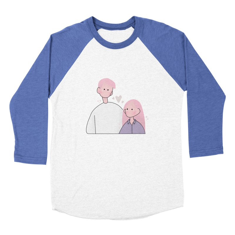 Happy Valentine's Day Women's Baseball Triblend Longsleeve T-Shirt by theladyernestember's Artist Shop