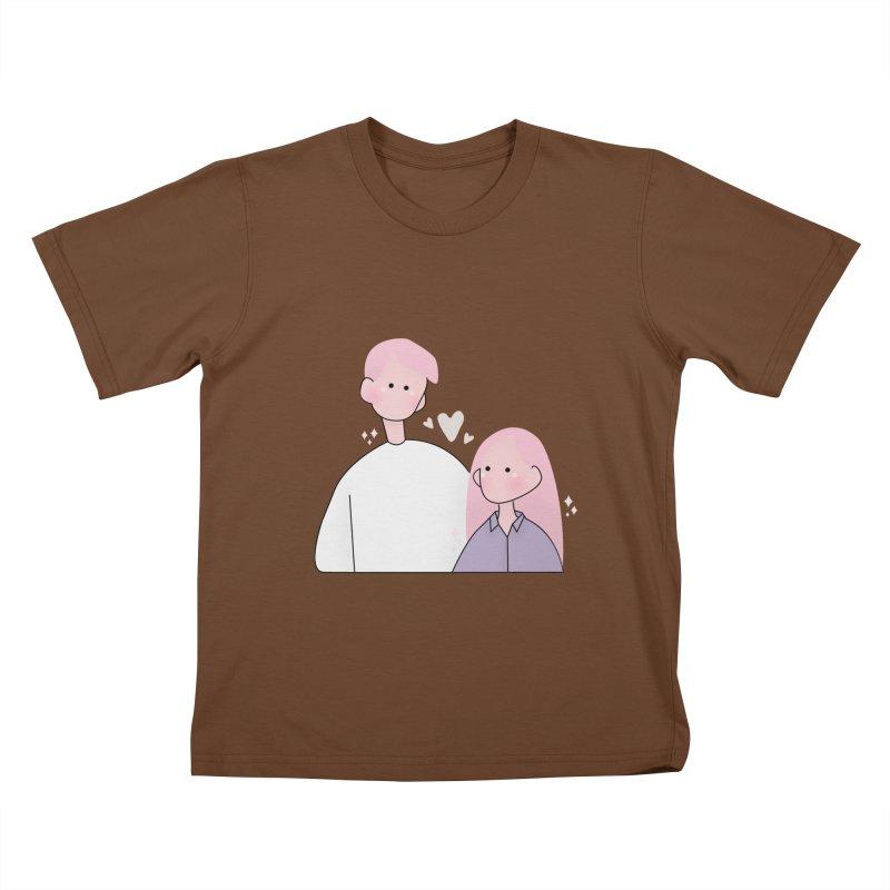 Happy Valentine's Day Kids T-Shirt by theladyernestember's Artist Shop