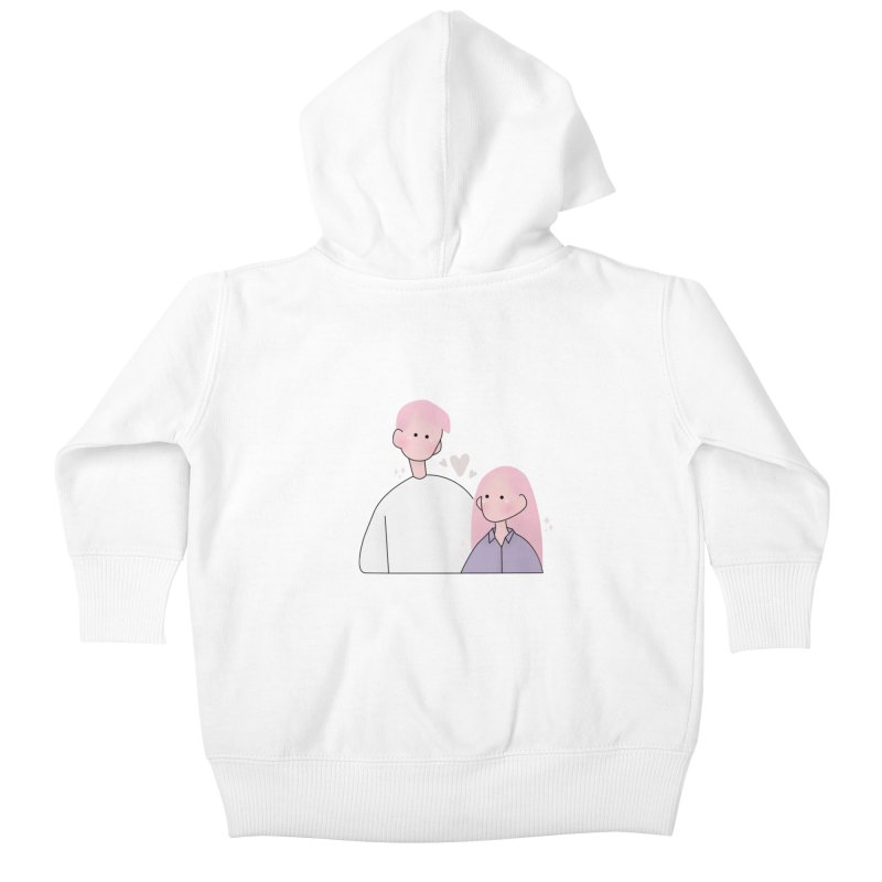 Happy Valentine's Day Kids Baby Zip-Up Hoody by the lady ernest ember's Artist Shop