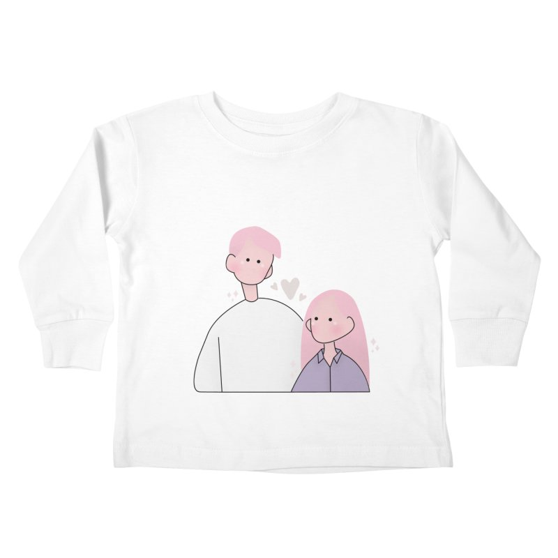 Happy Valentine's Day Kids Toddler Longsleeve T-Shirt by the lady ernest ember's Artist Shop