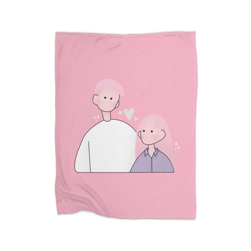 Happy Valentine's Day Home Blanket by theladyernestember's Artist Shop