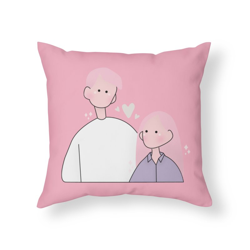 Happy Valentine's Day Home Throw Pillow by theladyernestember's Artist Shop