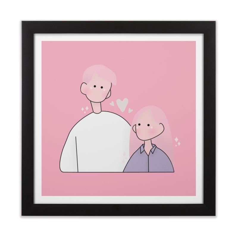 Happy Valentine's Day Home Framed Fine Art Print by theladyernestember's Artist Shop