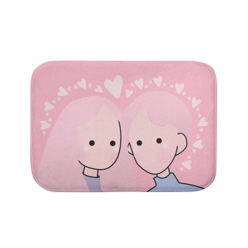 Happy Valentine's Day Home Bath Mat by theladyernestember's Artist Shop