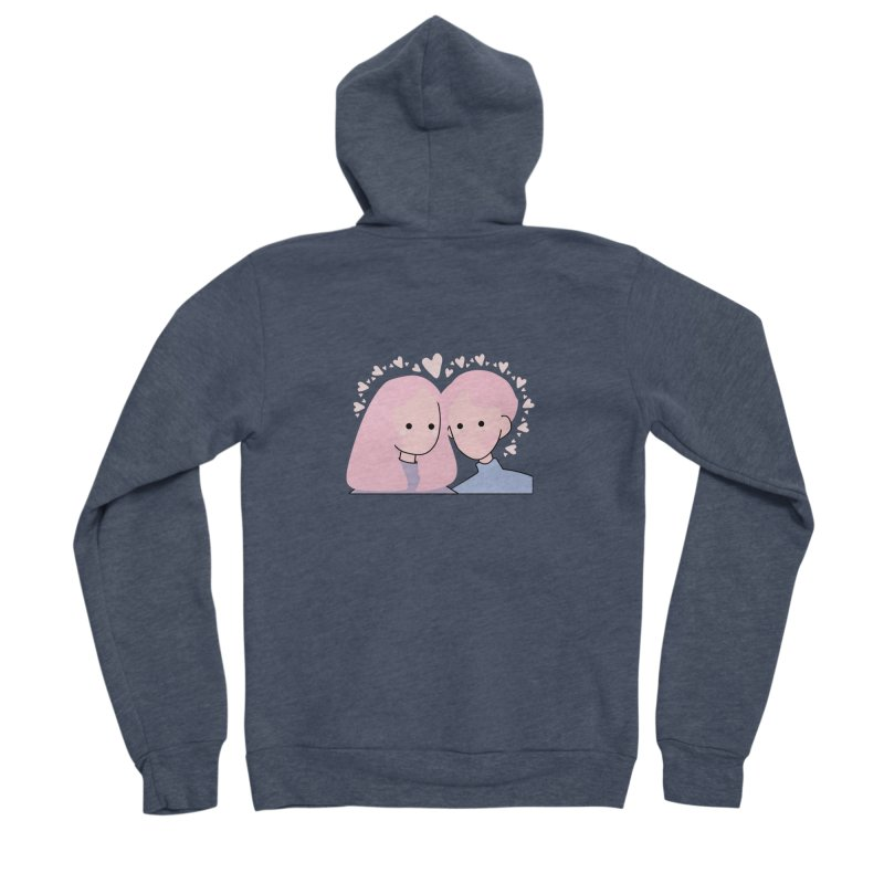 Happy Valentine's Day Men's Sponge Fleece Zip-Up Hoody by the lady ernest ember's Artist Shop