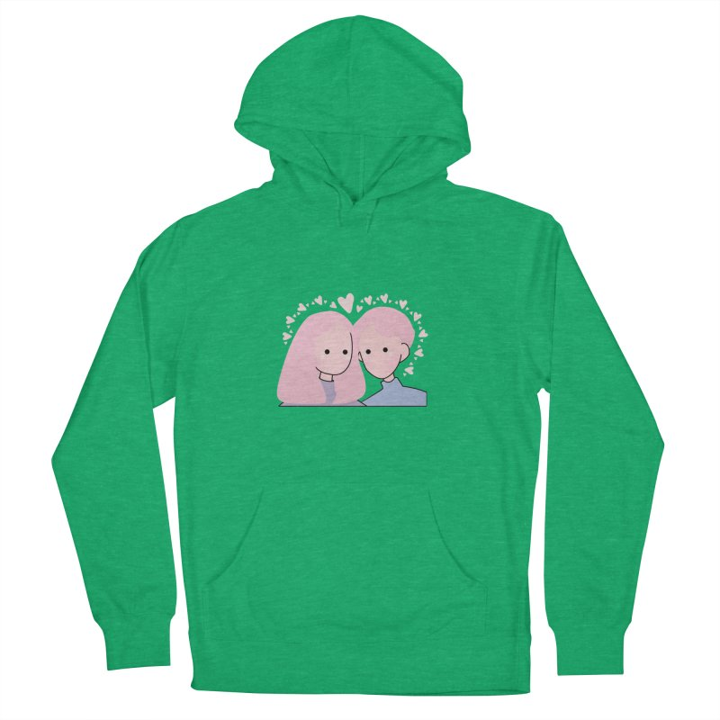 Happy Valentine's Day Men's French Terry Pullover Hoody by the lady ernest ember's Artist Shop