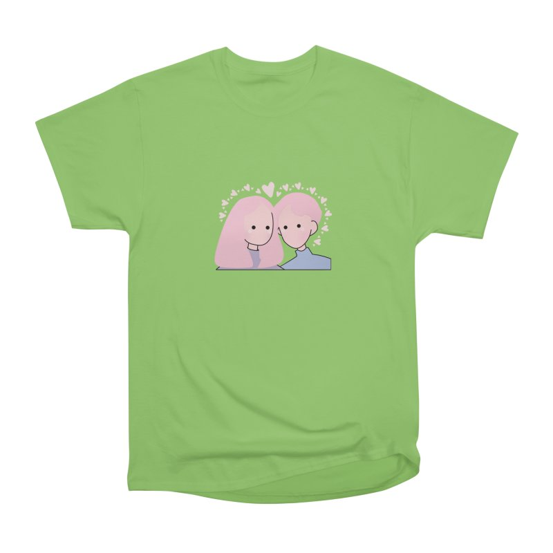 Happy Valentine's Day Men's Heavyweight T-Shirt by the lady ernest ember's Artist Shop