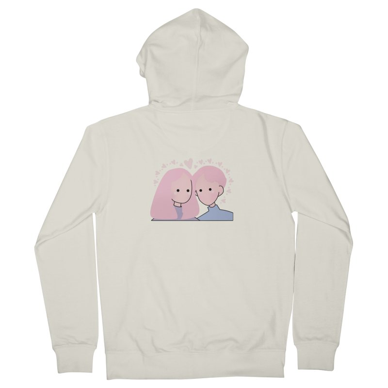Happy Valentine's Day Women's French Terry Zip-Up Hoody by theladyernestember's Artist Shop