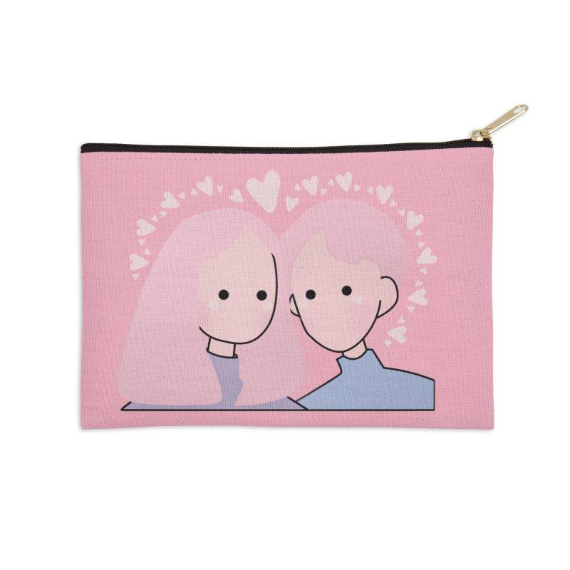 Happy Valentine's Day Accessories Zip Pouch by theladyernestember's Artist Shop