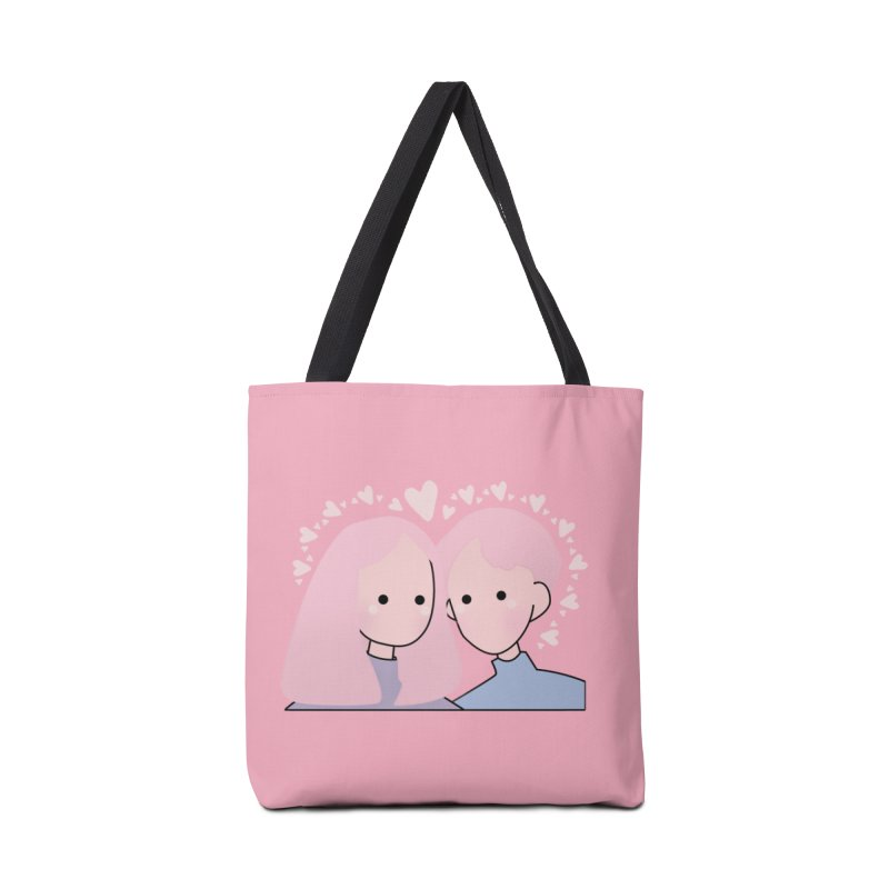 Happy Valentine's Day Accessories Bag by theladyernestember's Artist Shop
