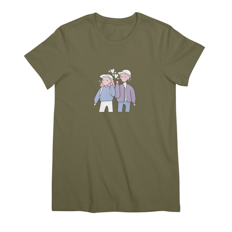 Happy Valentine's Day Women's Premium T-Shirt by the lady ernest ember's Artist Shop