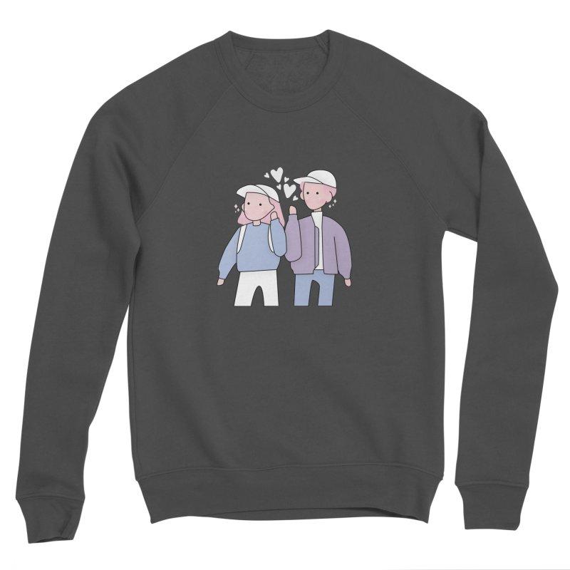 Happy Valentine's Day Women's Sponge Fleece Sweatshirt by the lady ernest ember's Artist Shop