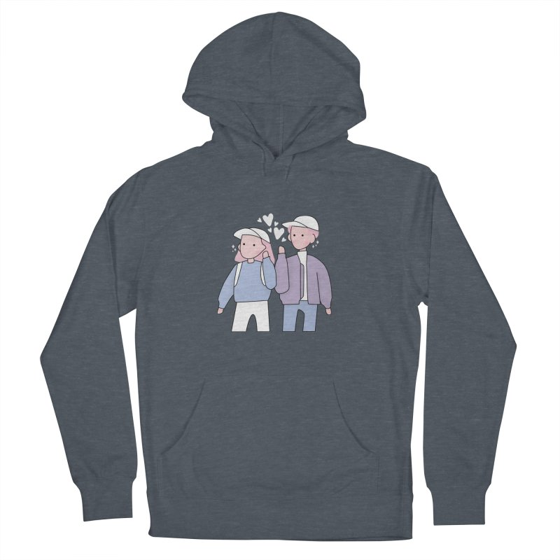 Happy Valentine's Day Women's French Terry Pullover Hoody by the lady ernest ember's Artist Shop