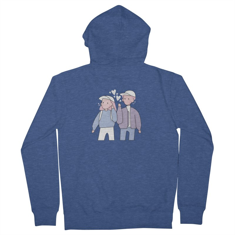 Happy Valentine's Day Women's French Terry Zip-Up Hoody by the lady ernest ember's Artist Shop