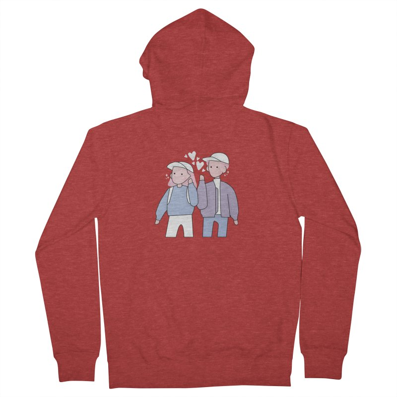 Happy Valentine's Day Men's French Terry Zip-Up Hoody by theladyernestember's Artist Shop