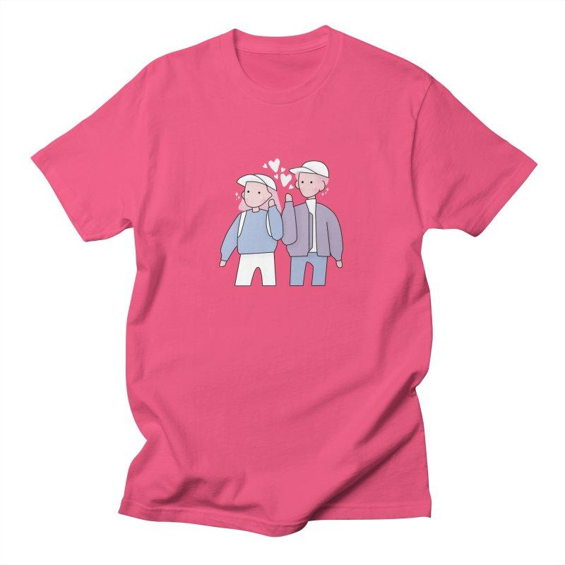 Happy Valentine's Day Men's Regular T-Shirt by theladyernestember's Artist Shop