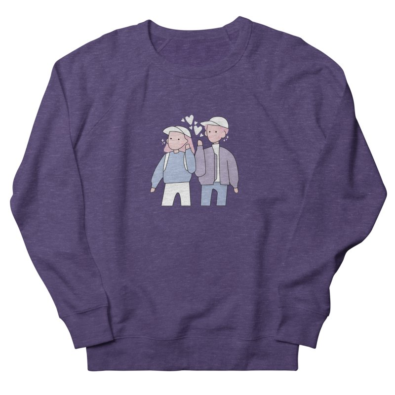 Happy Valentine's Day Men's French Terry Sweatshirt by the lady ernest ember's Artist Shop