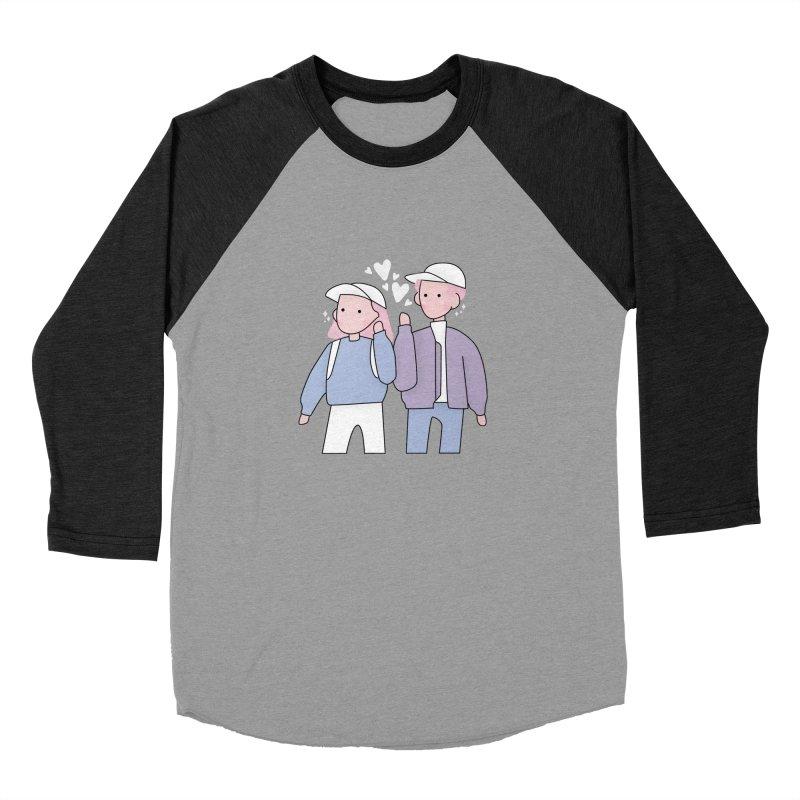 Happy Valentine's Day Women's Baseball Triblend Longsleeve T-Shirt by theladyernestember's Artist Shop