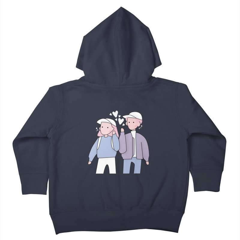 Happy Valentine's Day Kids Toddler Zip-Up Hoody by the lady ernest ember's Artist Shop