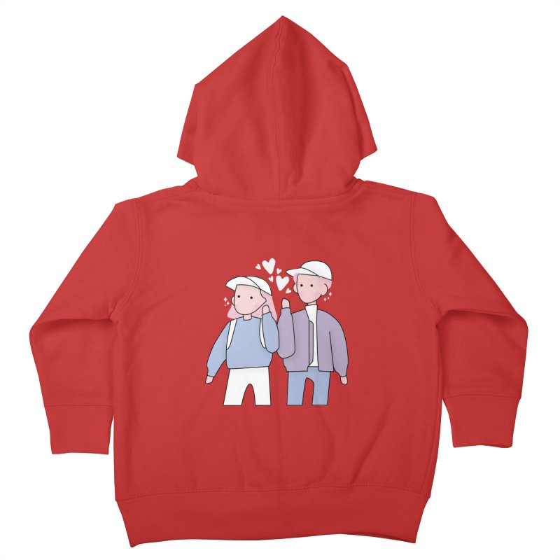 Happy Valentine's Day Kids Toddler Zip-Up Hoody by theladyernestember's Artist Shop