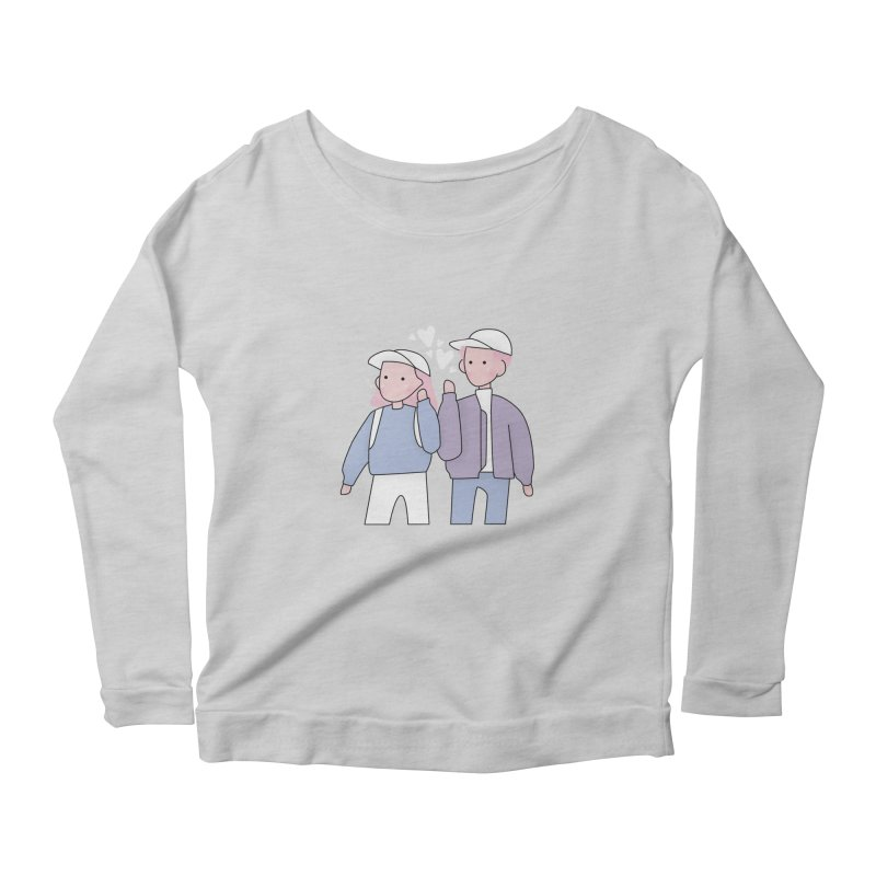 Happy Valentine's Day Women's Scoop Neck Longsleeve T-Shirt by the lady ernest ember's Artist Shop