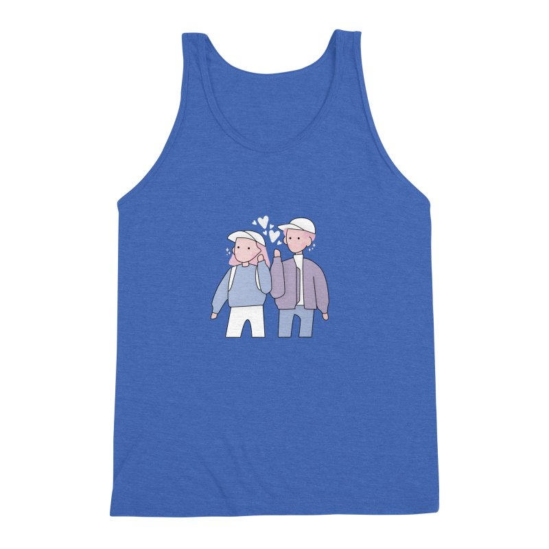 Happy Valentine's Day Men's Triblend Tank by the lady ernest ember's Artist Shop
