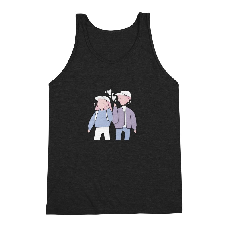 Happy Valentine's Day Men's Triblend Tank by theladyernestember's Artist Shop