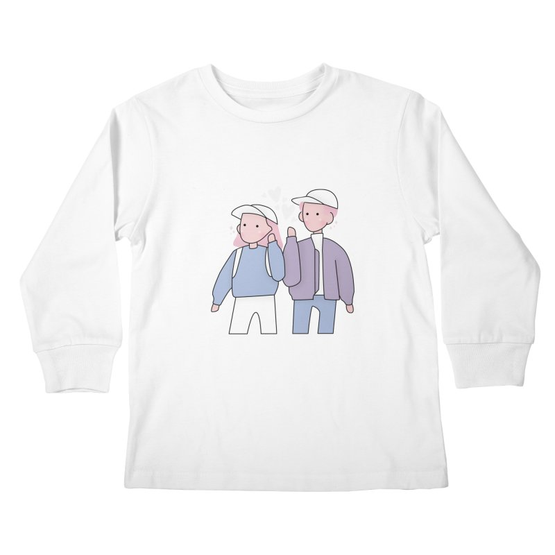 Happy Valentine's Day Kids Longsleeve T-Shirt by the lady ernest ember's Artist Shop
