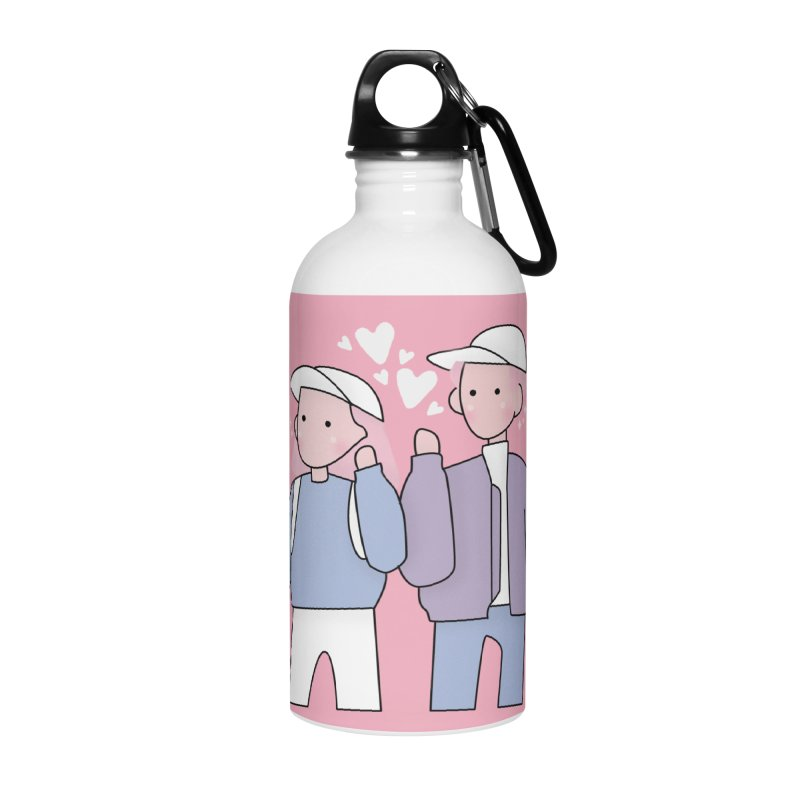 Happy Valentine's Day Accessories Water Bottle by theladyernestember's Artist Shop