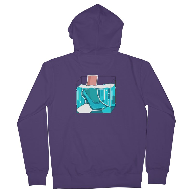 Feet under water Women's French Terry Zip-Up Hoody by theladyernestember's Artist Shop