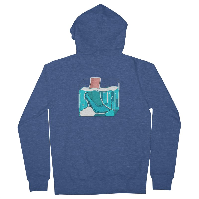 Feet under water Men's French Terry Zip-Up Hoody by theladyernestember's Artist Shop