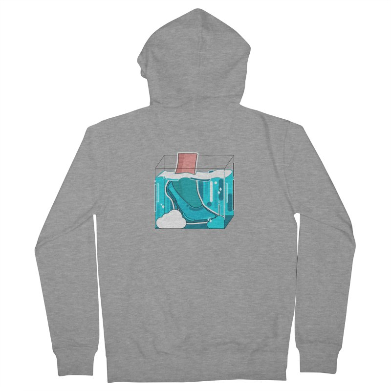 Feet under water Men's French Terry Zip-Up Hoody by the lady ernest ember's Artist Shop