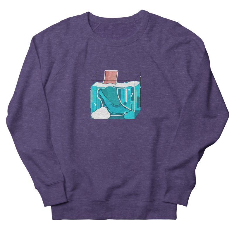 Feet under water Men's French Terry Sweatshirt by the lady ernest ember's Artist Shop