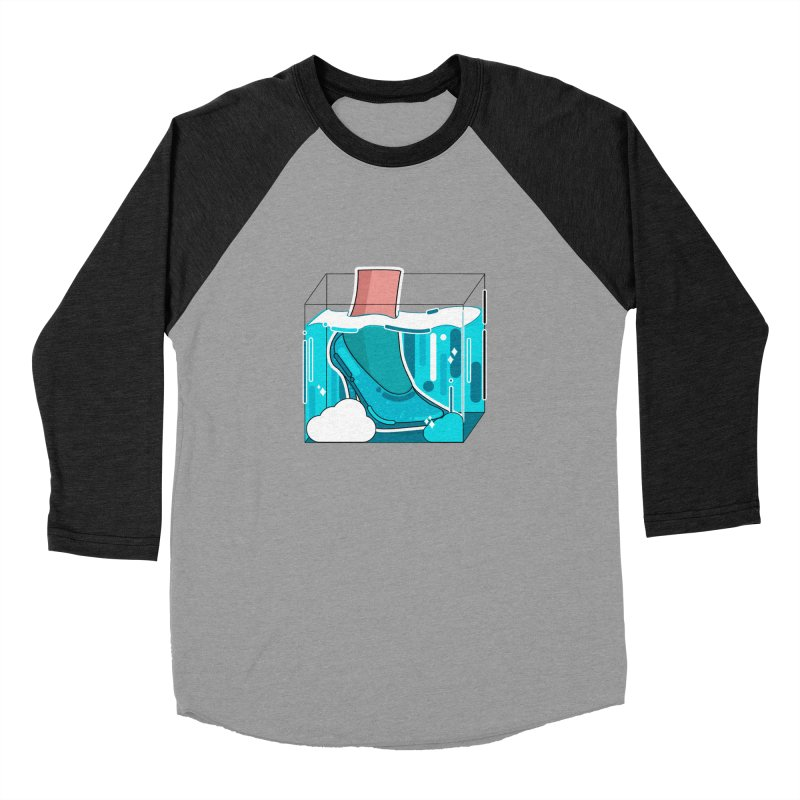 Feet under water Men's Baseball Triblend Longsleeve T-Shirt by the lady ernest ember's Artist Shop