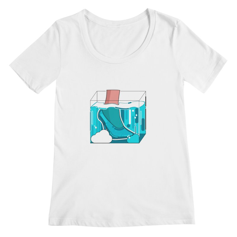 Feet under water Women's Regular Scoop Neck by theladyernestember's Artist Shop