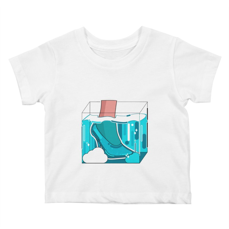 Feet under water Kids Baby T-Shirt by the lady ernest ember's Artist Shop
