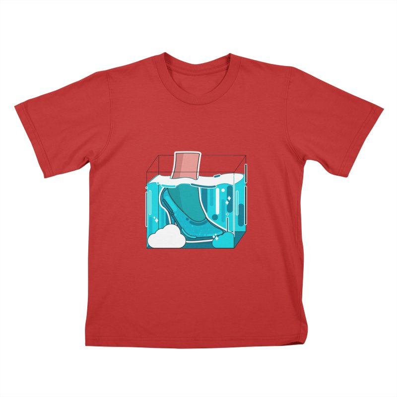 Feet under water Kids T-Shirt by the lady ernest ember's Artist Shop