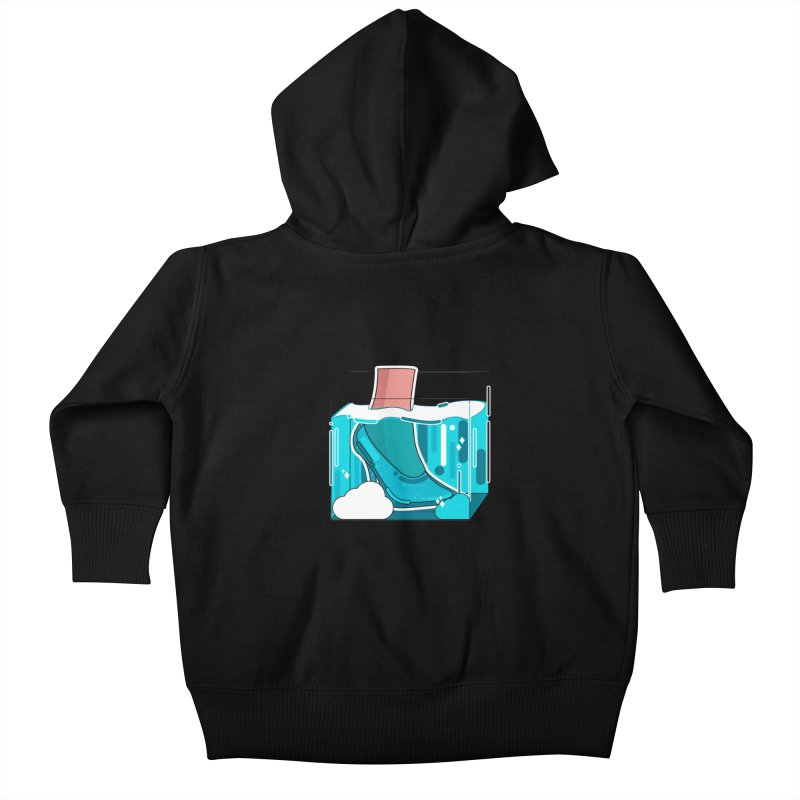 Feet under water Kids Baby Zip-Up Hoody by the lady ernest ember's Artist Shop