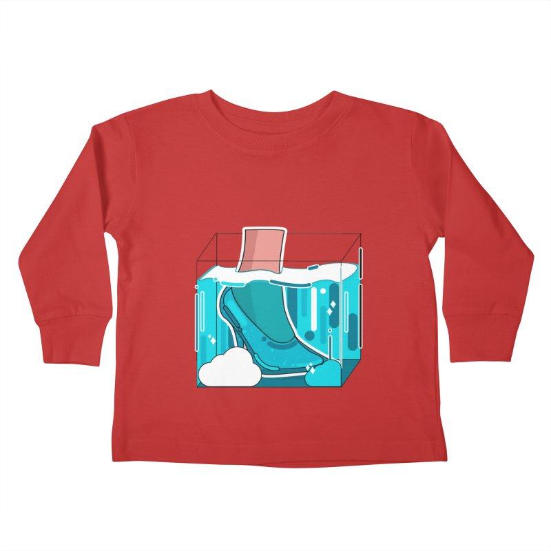 Feet under water Kids Toddler Longsleeve T-Shirt by the lady ernest ember's Artist Shop