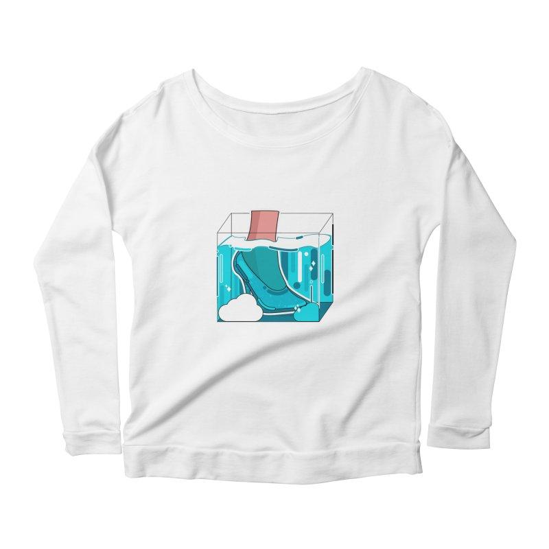 Feet under water Women's Scoop Neck Longsleeve T-Shirt by the lady ernest ember's Artist Shop