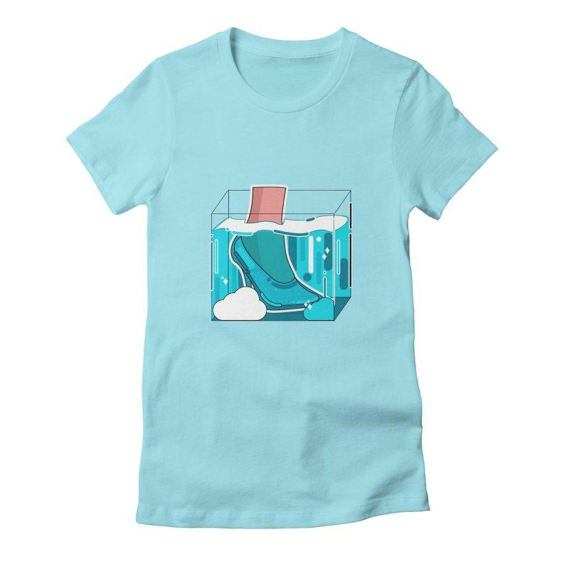 Feet under water Women's T-Shirt by theladyernestember's Artist Shop