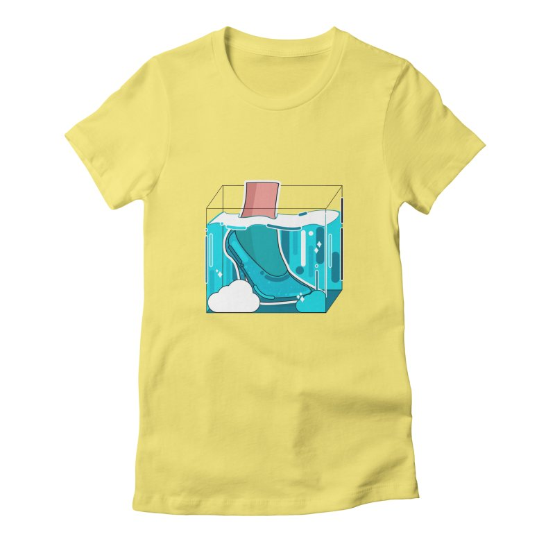 Feet under water Women's Fitted T-Shirt by the lady ernest ember's Artist Shop