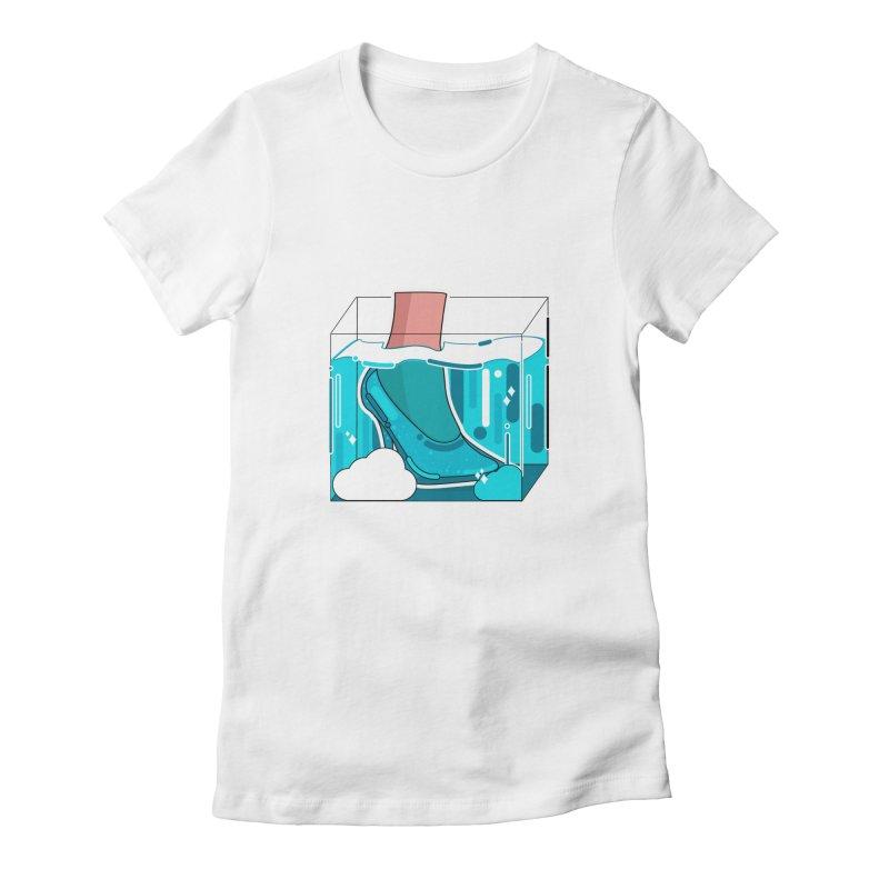 Feet under water Women's Fitted T-Shirt by theladyernestember's Artist Shop