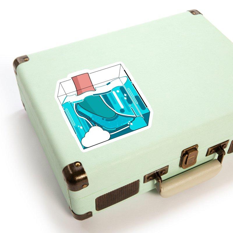 Feet under water Accessories Sticker by theladyernestember's Artist Shop